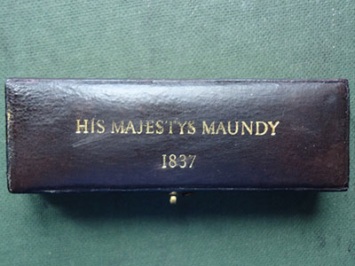 1837 maundy set case
