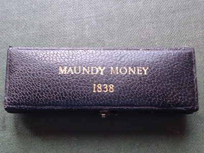 1838 maundy set case
