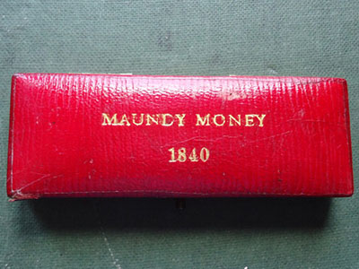 1840 maundy set case