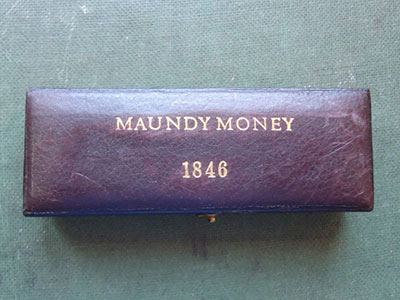 1846 maundy set case