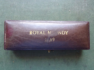 1849 maundy set case