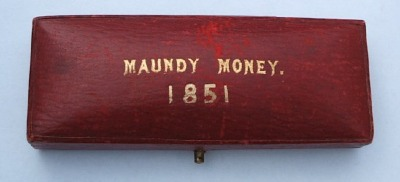1851 oblong maundy set case