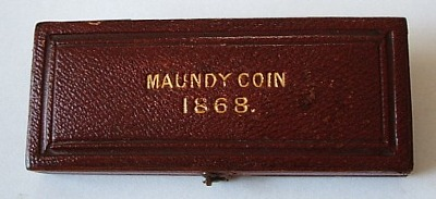 1868 maundy set case