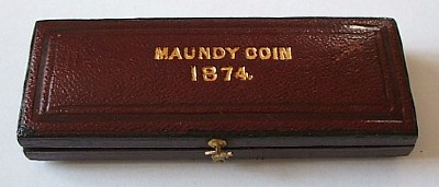 1874 maundy set case