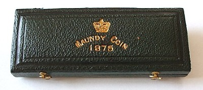 1875 maundy set case