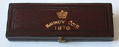 1876 maundy set case