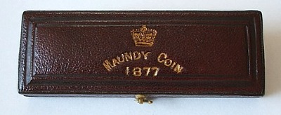 1877 maundy set case