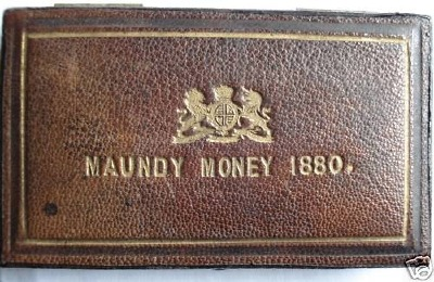 1880 double maundy set case