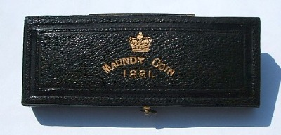 1881 maundy set case
