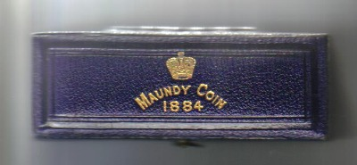 1884 maundy set case