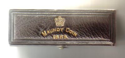 1889 maundy set case