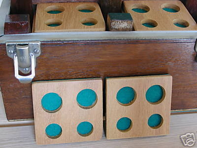 Custom case to hold 22 Maundy Sets.