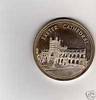 1983 Exeter Cathedral medallion - picture supplied by Exeter Cathedral