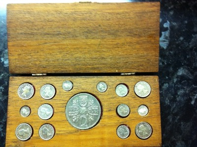 1961 full maundy distribution set - obverse.