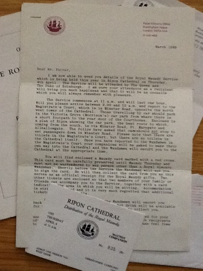 Original letters from Buckinham palace - 1985