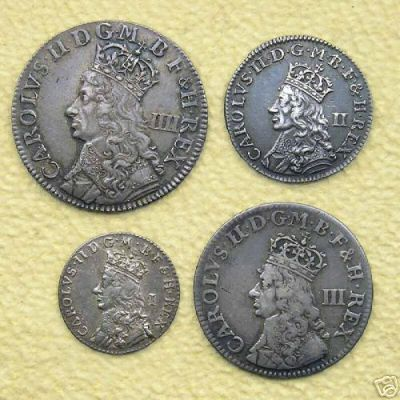 First of milled Maundy sets issued in c1664