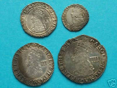 Charles II Hammered Maundy Set