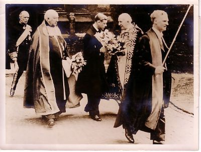 King Edward VIII at the maundy ceremony on the 9th April 1936