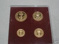 2002 Elizabeth 11 Gold Maundy Set
